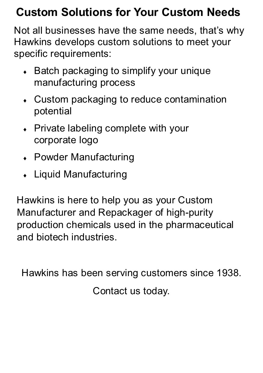 Pharmaceutical Custom Solutions for Your Custom Needs
