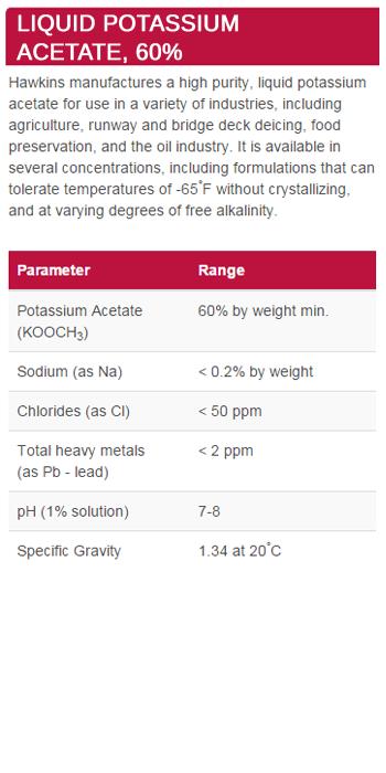 Liquid Potassium Acetate, 60%