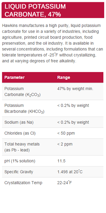 Liquid Potassium Carbonate, 47%