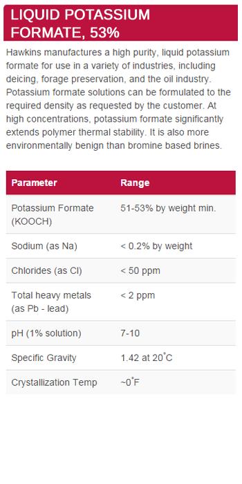 Liquid Potassium Formate, 53%