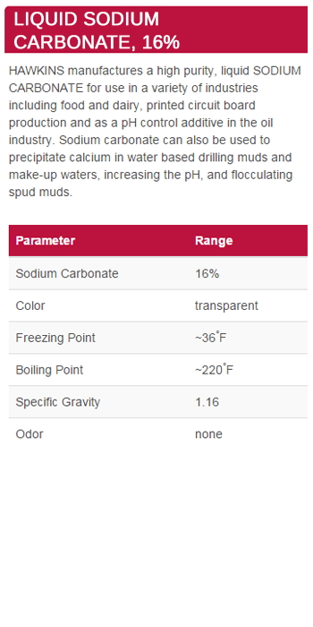 Liquid Sodium Carbonate, 16%