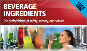 Button that leads to Beverage Ingredients page