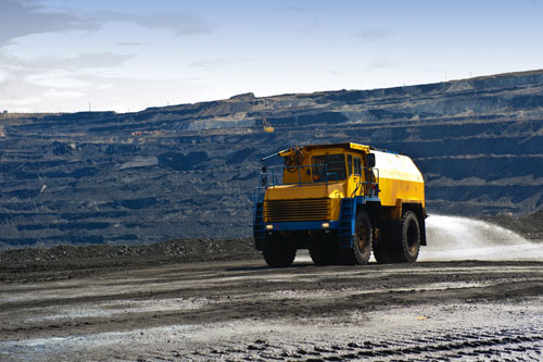 mining-truck-spraying-dust-water-treatment