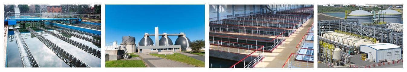 Hydrogen peroxide water treatment plants