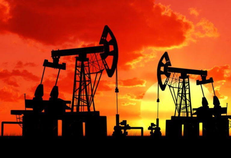oil rig sunrise