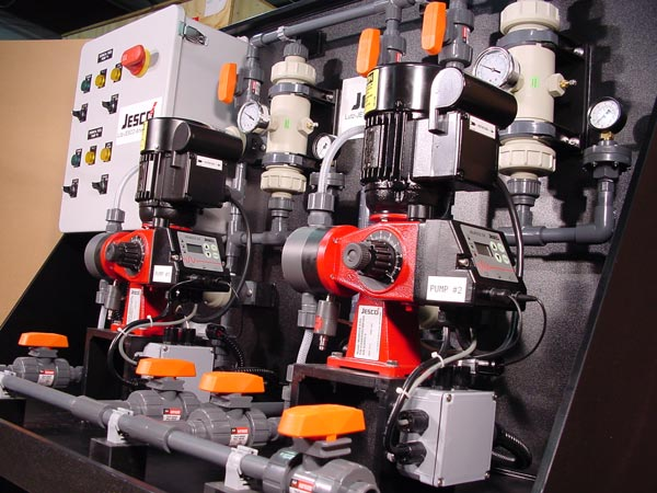 Jesco Skid System with pumps