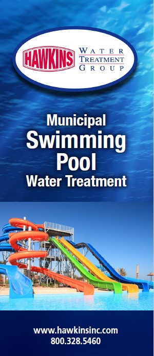 Swimming pool water treatment trifold