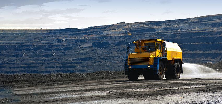 coal-mining-truck-spraying-dust-treatment